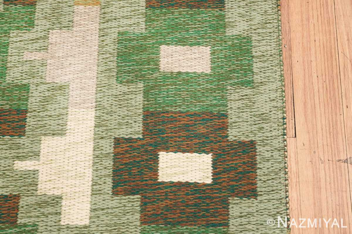 Vintage Swedish Carpet 48454 Border Nazmiyal