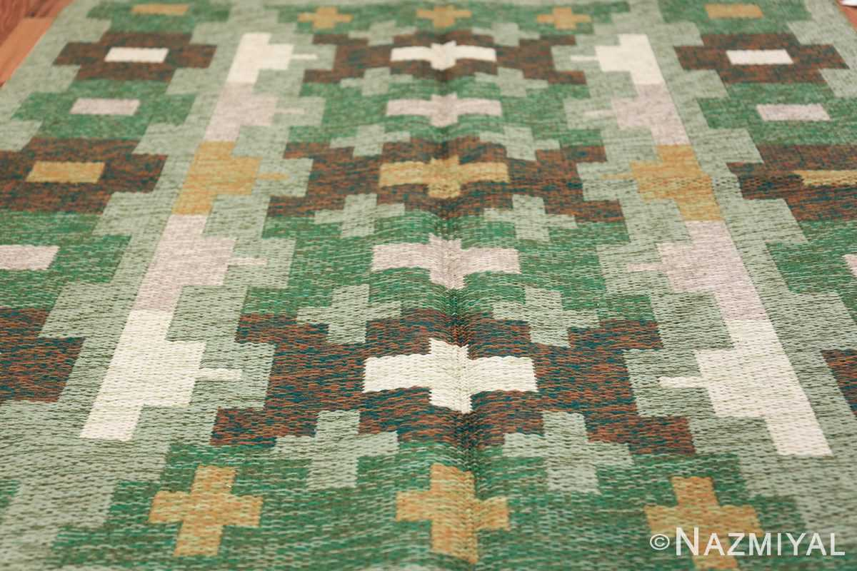 Vintage Swedish Carpet 48454 Field Design Nazmiyal
