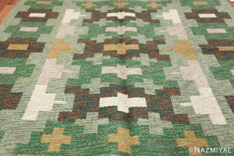 Vintage Swedish Carpet 48454 Field Design Nazmiyal