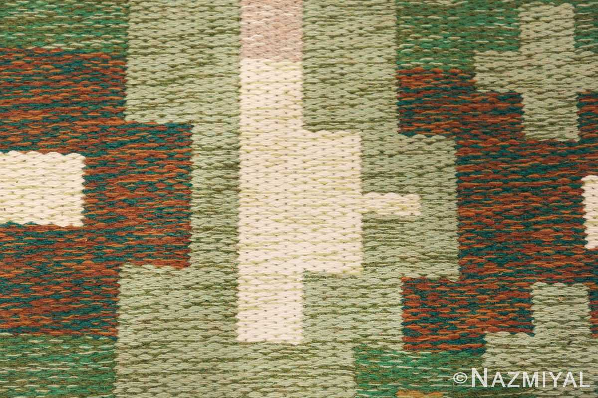 Vintage Swedish Carpet 48454 Geometric Pattern Nazmiyal