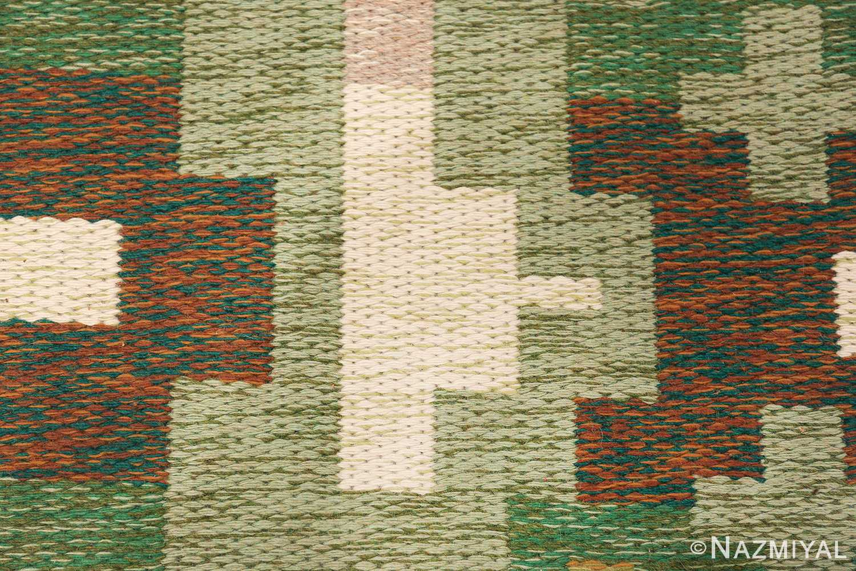 Vintage Swedish Carpet 48454 Geometric Pattern Nazmiyal