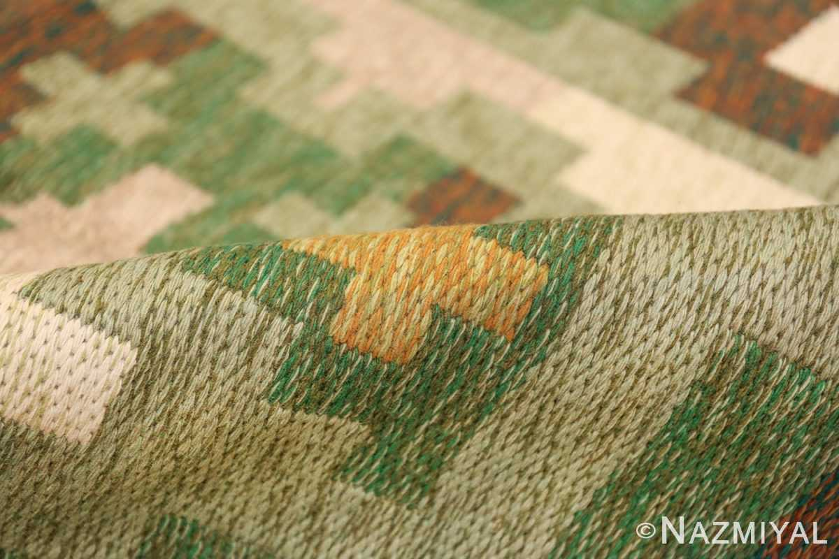 Vintage Swedish Carpet 48454 Green Pile Nazmiyal
