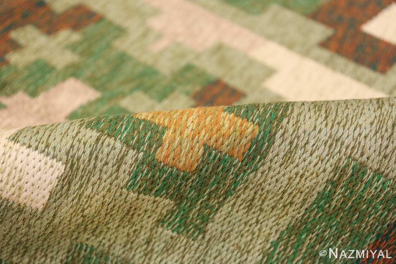 Vintage Swedish Carpet 48454 Green Pile Nazmiyal