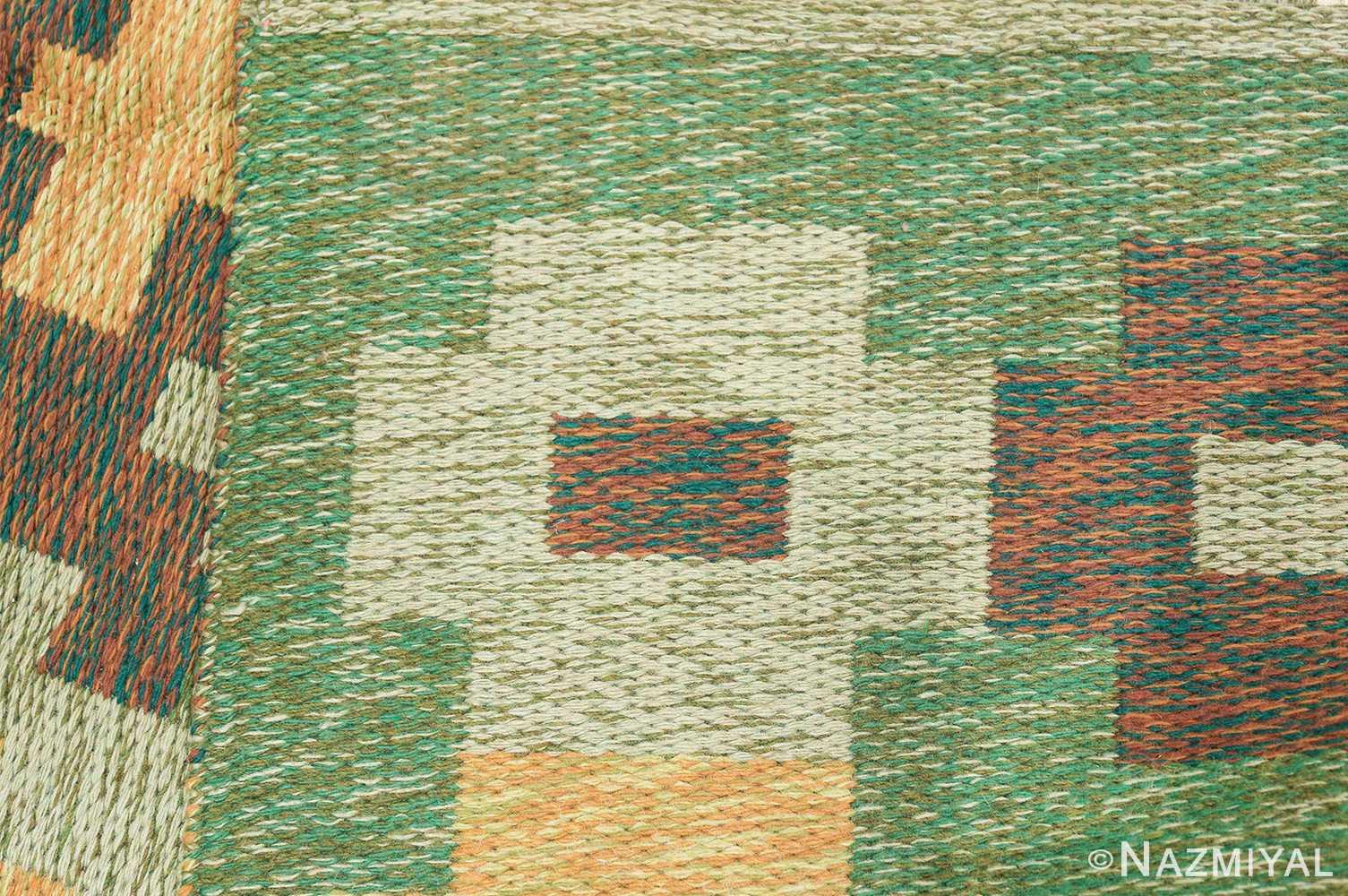 Vintage Swedish Carpet 48454 Knots Woven Nazmiyal