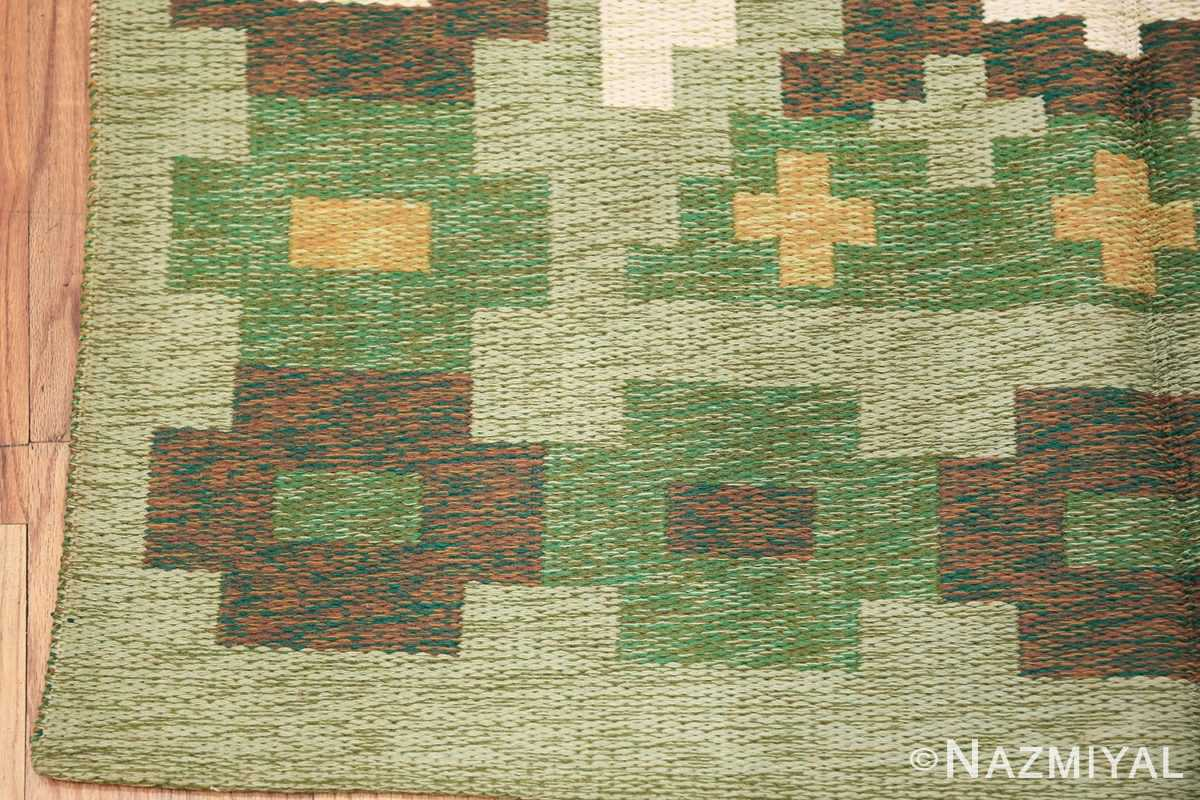 Vintage Swedish Carpet 48454 Side Corner Nazmiyal