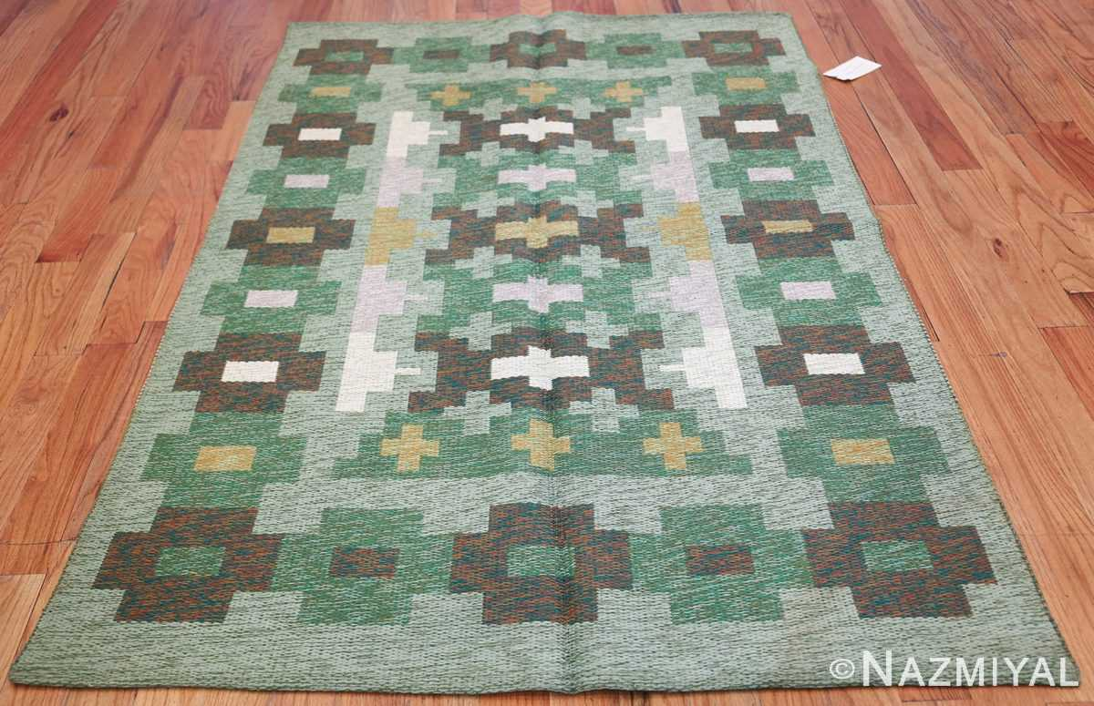 Vintage Swedish Carpet 48454 Whole Design Dark Nazmiyal