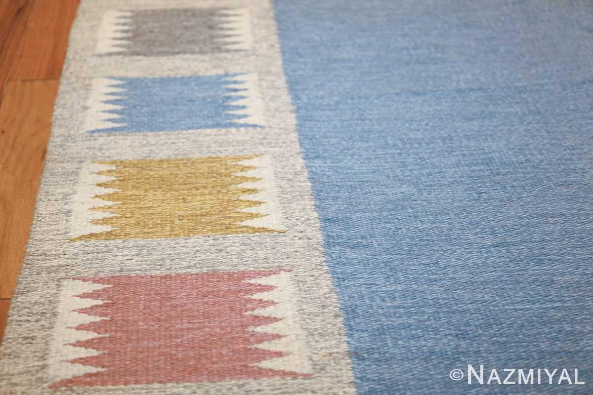 Vintage Swedish carpet by Birgitta Soderkvist 48451 border Nazmiyal