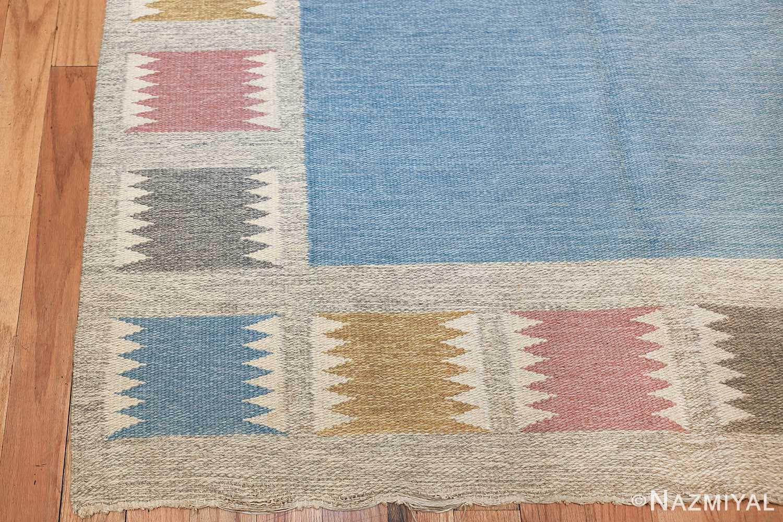 Vintage Swedish carpet by Birgitta Soderkvist 48451 corner Nazmiyal