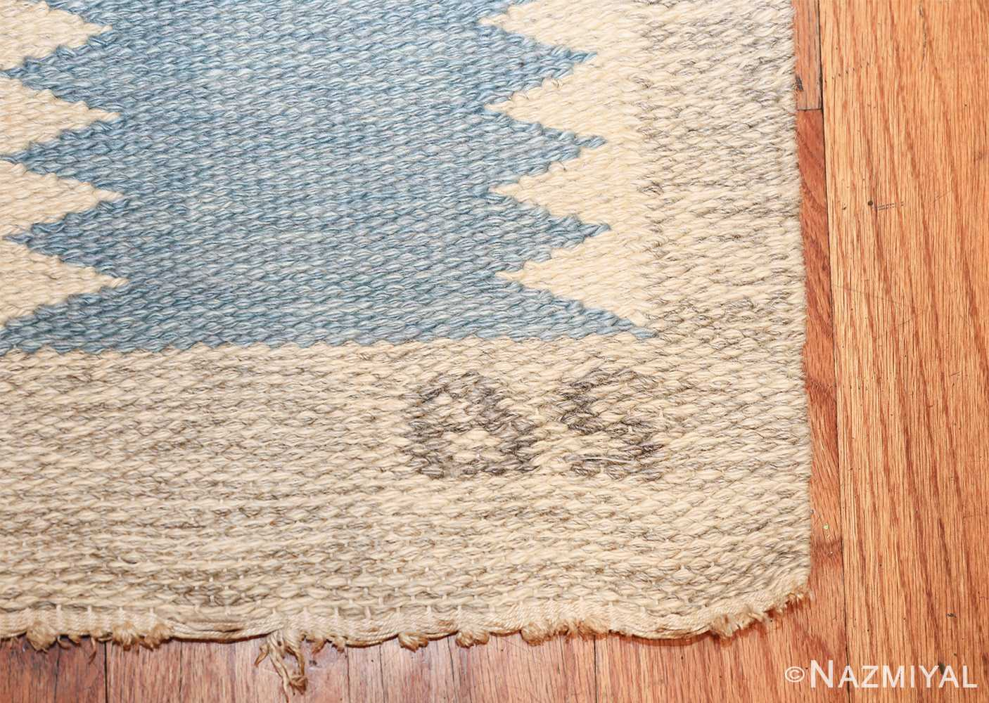 Vintage Swedish carpet by Birgitta Soderkvist 48451 initials Nazmiyal