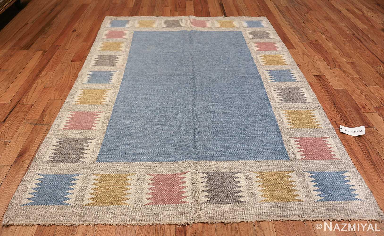 Vintage Swedish carpet by Birgitta Soderkvist 48451 whole Nazmiyal