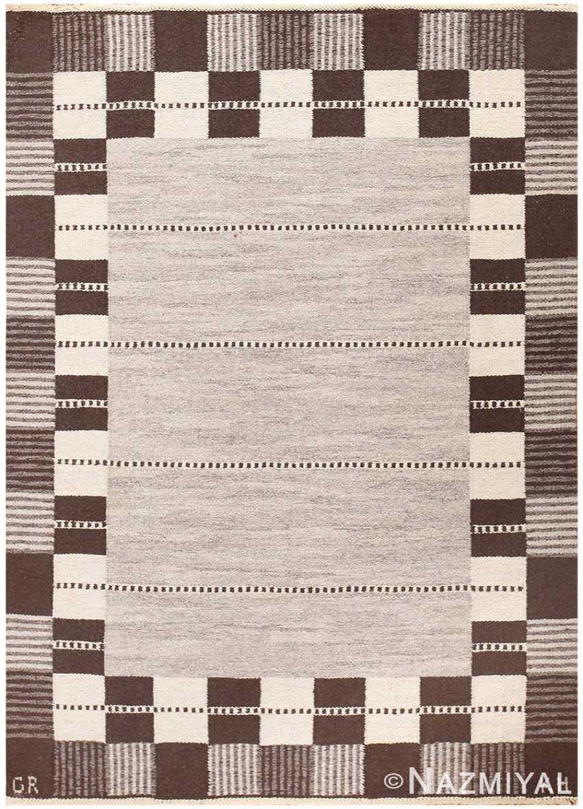 Vintage Swedish Carpet by Klockaregardens Hemslojd 48450 Nazmiyal