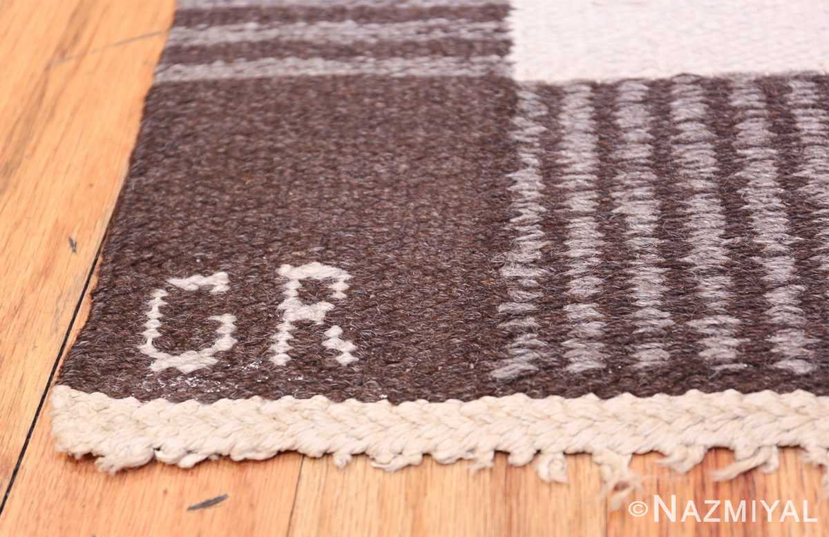 Vintage Swedish Carpet by Klockaregardens Hemslojd 48450 Second Signature Initials Nazmiyal