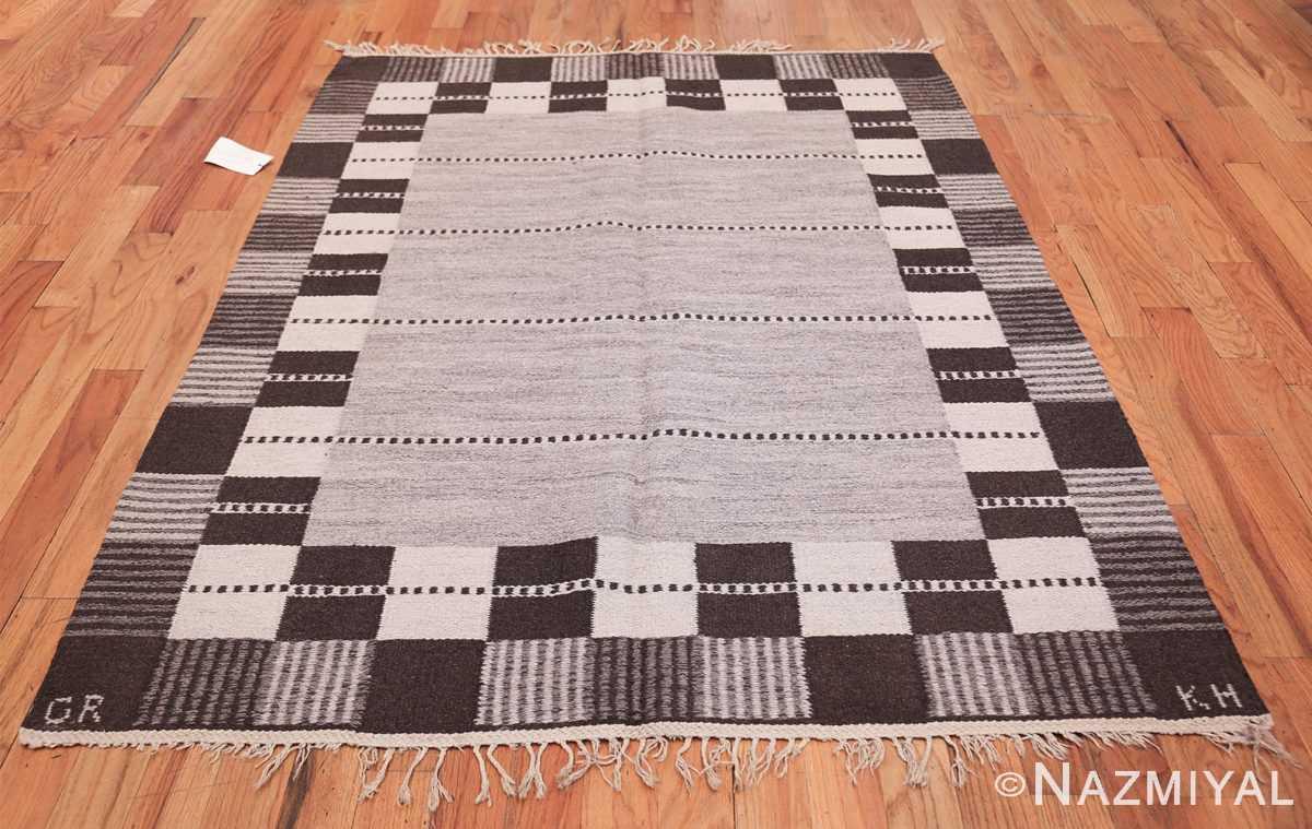 Vintage Swedish Carpet by Klockaregardens Hemslojd 48450 Whole Design Nazmiyal
