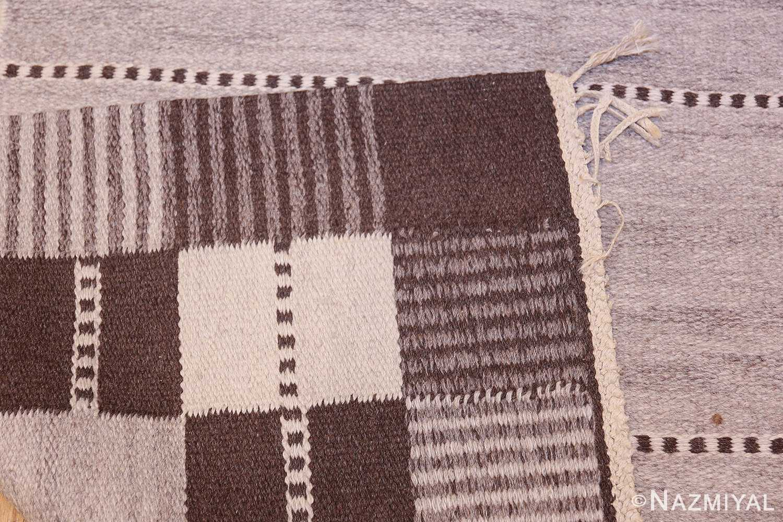 Vintage Swedish Carpet by Klockaregardens Hemslojd 48450 Woven Knots Nazmiyal