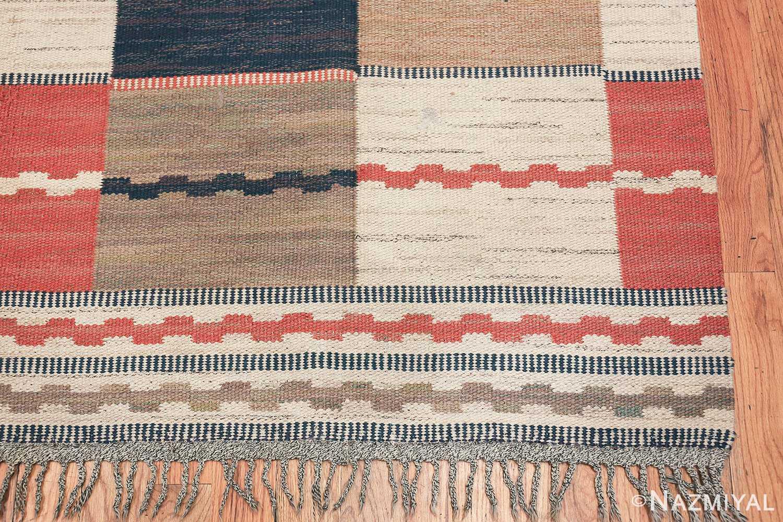 vintage swedish carpet by marta maas fjetterstrom 48438 corner Nazmiyal