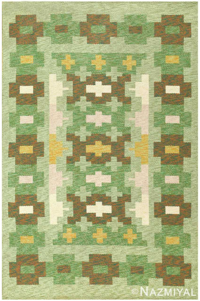 Vintage Swedish Kilim 48454 Detail/Large View