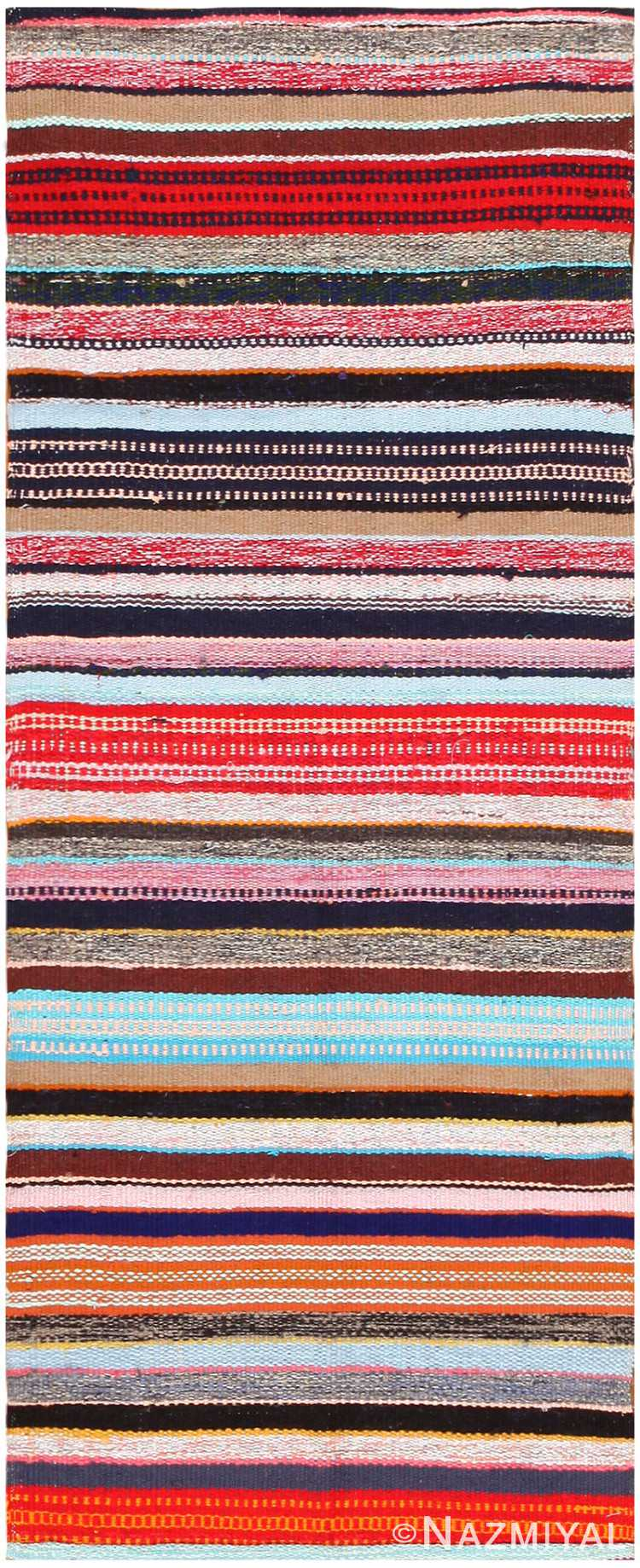 Small Rustic Vintage Swedish Rag Rug #46667 by Nazmiyal Antique Rugs