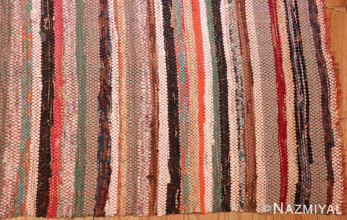 vintage swedish scandinavian runner rag rug 46657 corner Nazmiyal