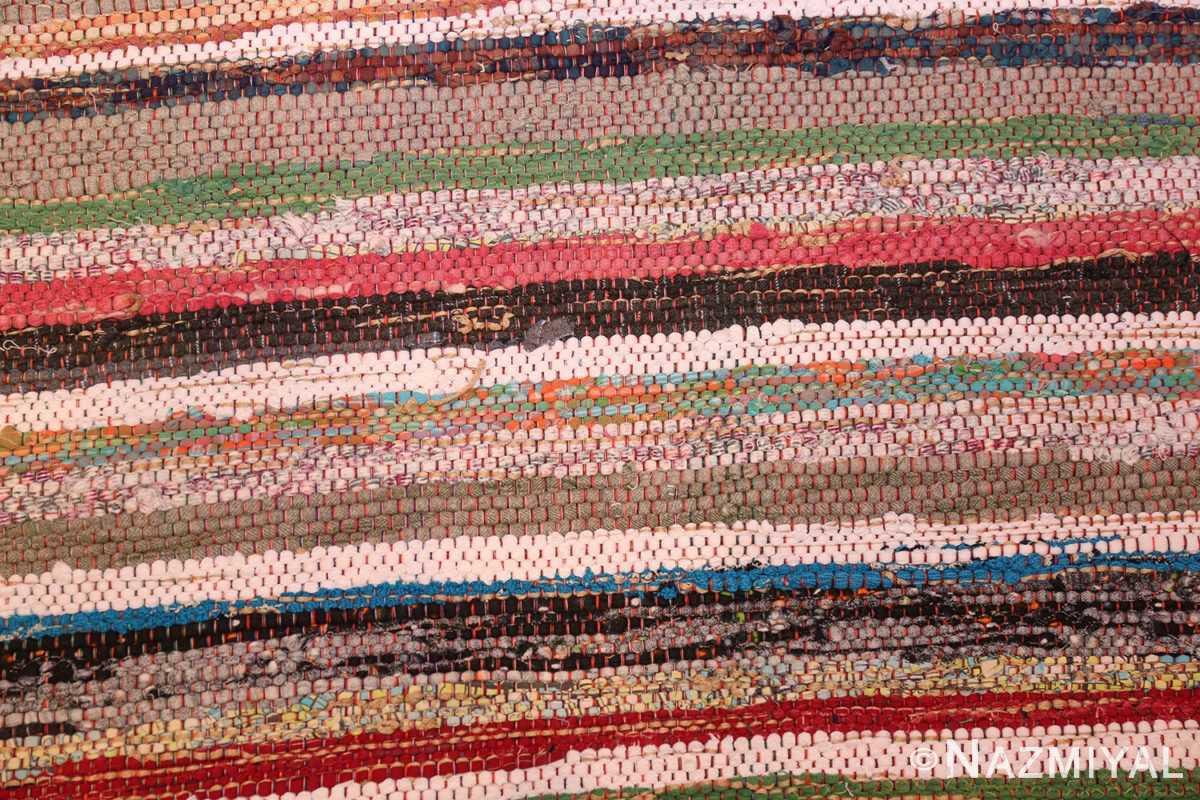 vintage swedish scandinavian runner rag rug 46657 detailed Nazmiyal