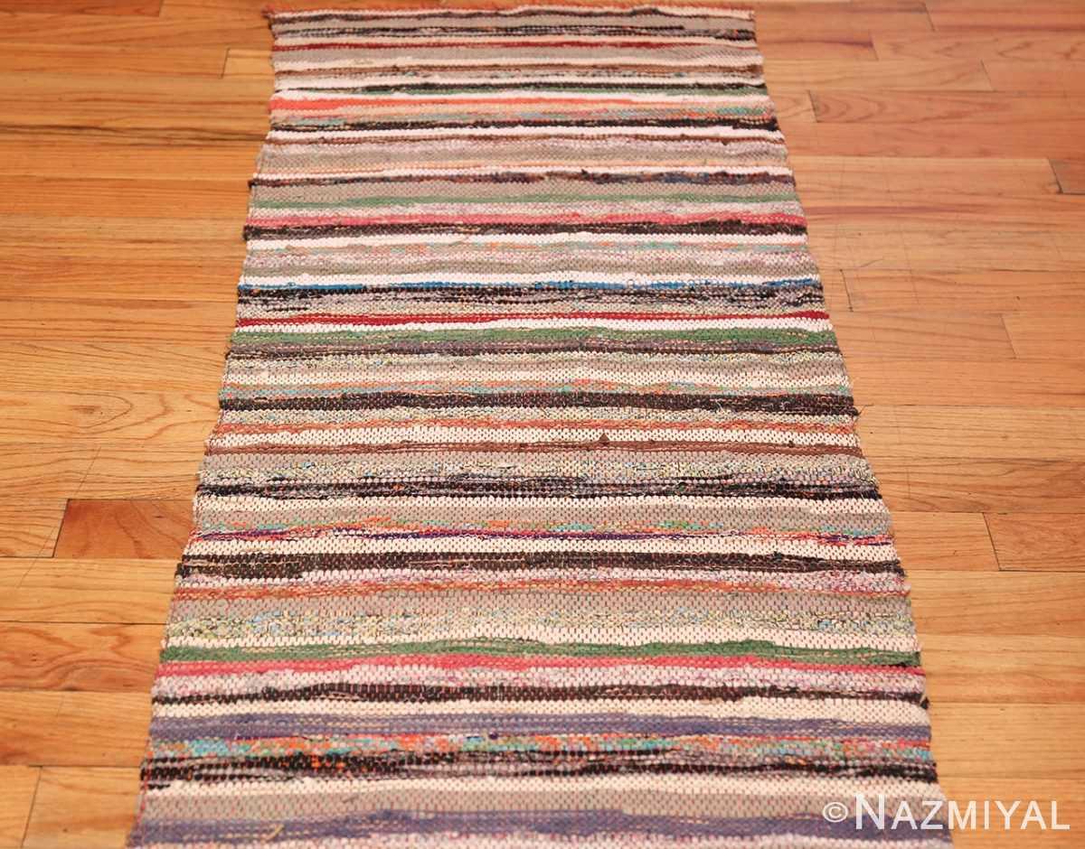 vintage swedish scandinavian runner rag rug 46657 full Nazmiyal