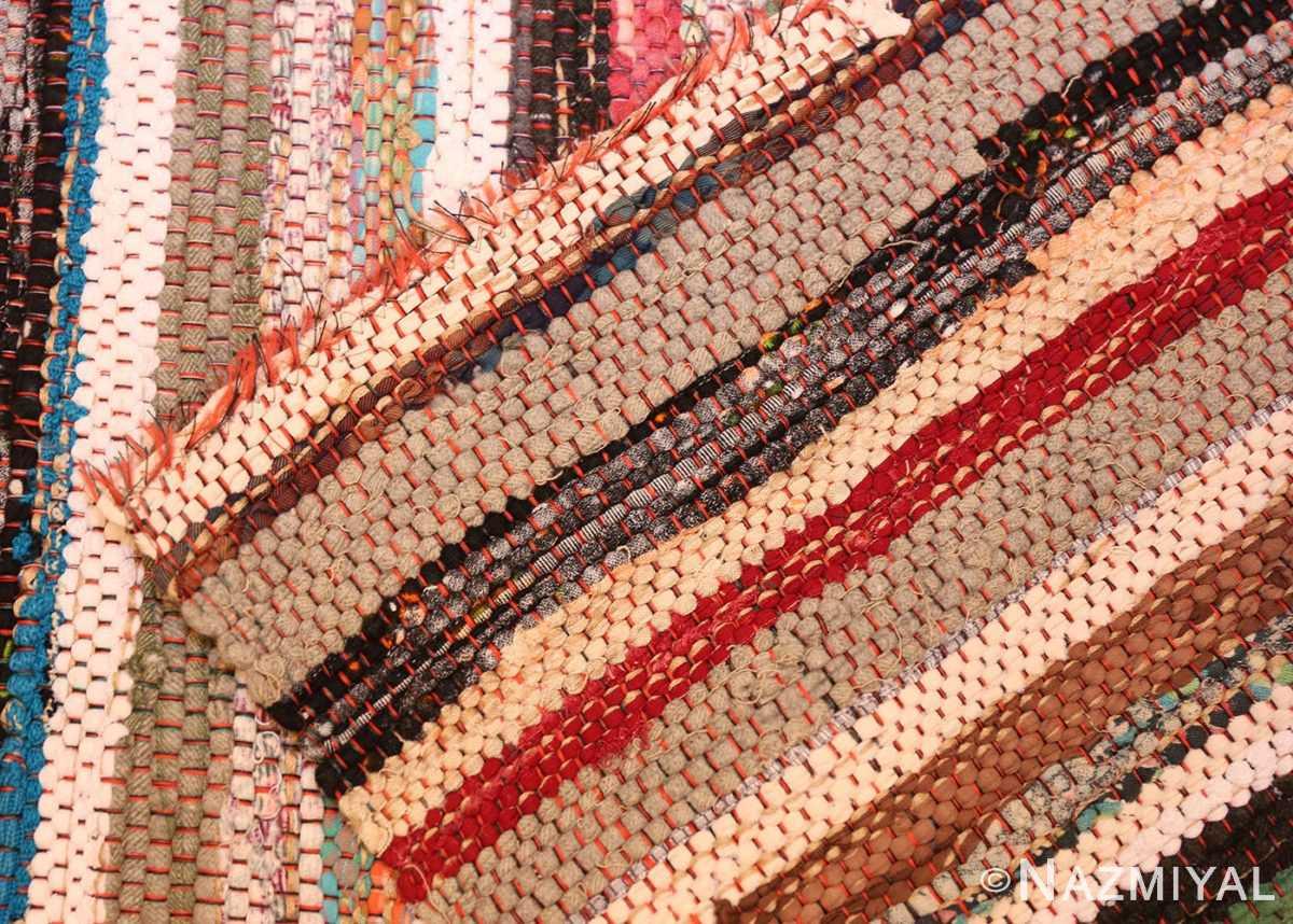 vintage swedish scandinavian runner rag rug 46657 weave Nazmiyal