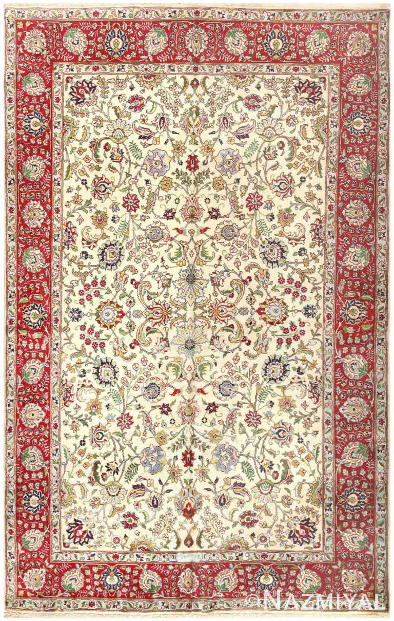 Vintage Tabriz Persian Carpet 50224 Nazmiyal