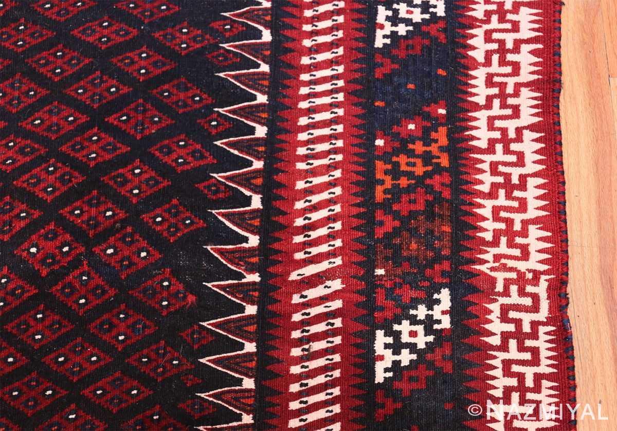 Vintage Turkish Kilim Rug 50168 Border Design Nazmiyal