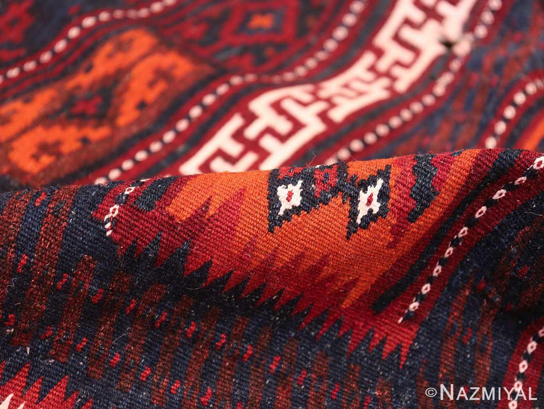 Vintage Turkish Kilim Rug 50168 Geometric Pile Nazmiyal