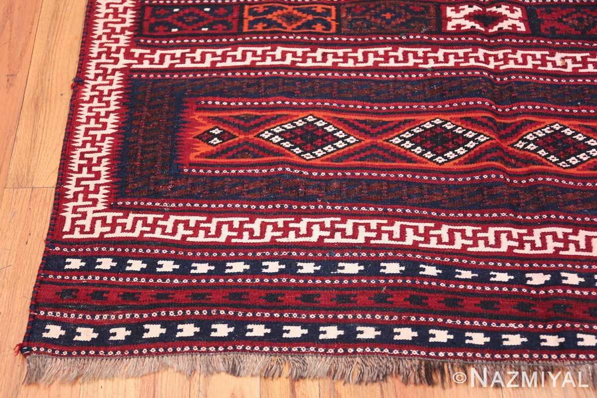 Vintage Turkish Kilim Rug 50168 Side Corner Nazmiyal