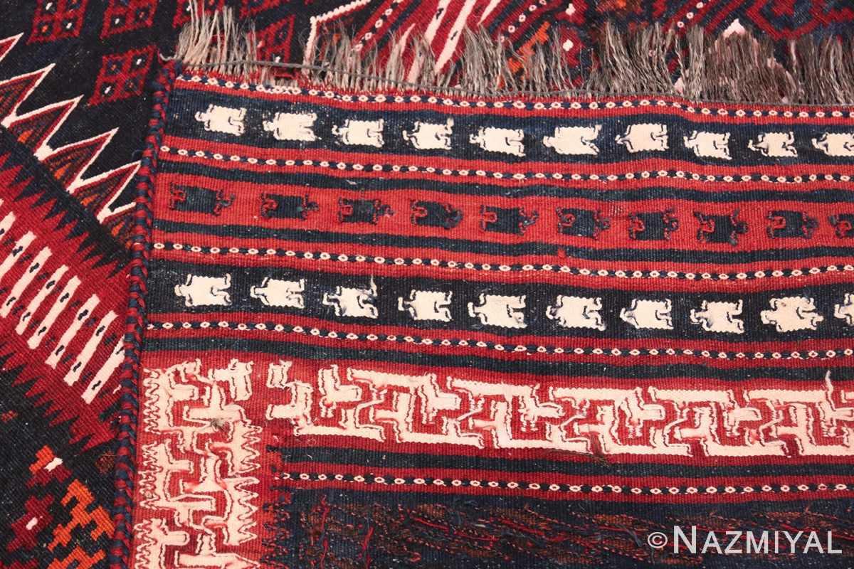 Vintage Turkish Kilim Rug 50168 Woven Knots Nazmiyal
