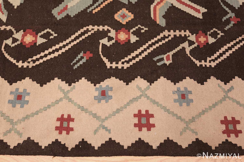vintage turkish kilim rug 50170 border edited Nazmiyal