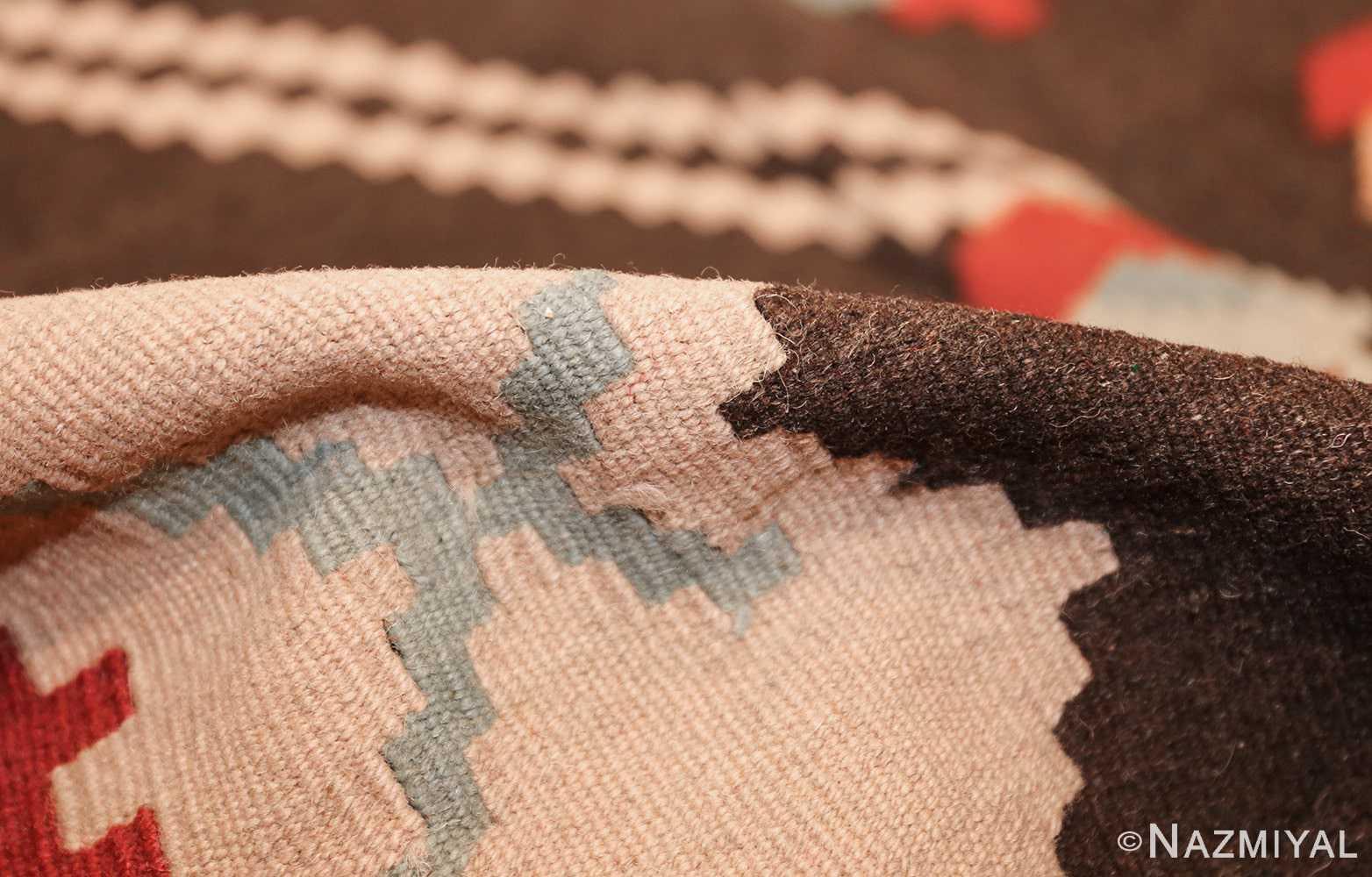 vintage turkish kilim rug 50170 pile Nazmiyal