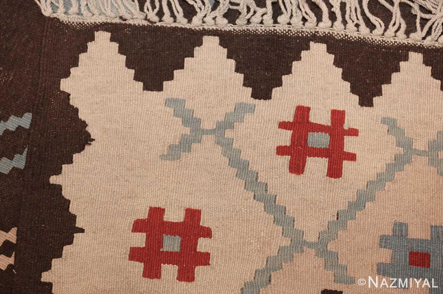 vintage turkish kilim rug 50170 weave edited Nazmiyal