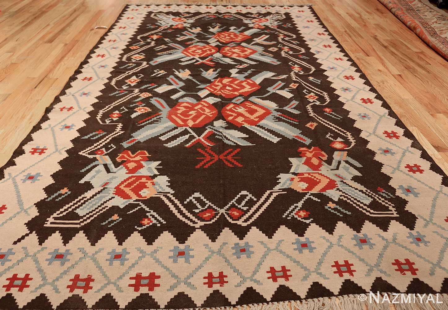 vintage turkish kilim rug 50170 whole edited Nazmiyal