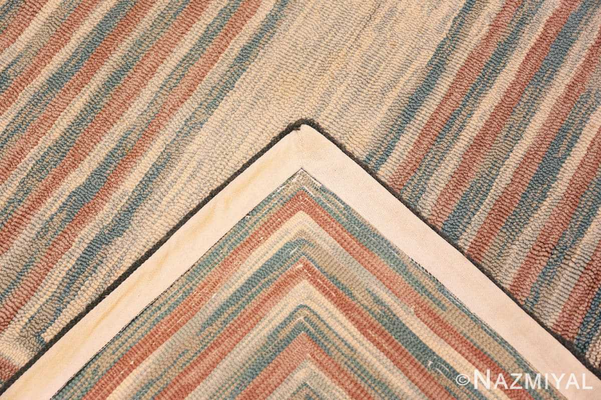 Weave Antique American hooked rug 50054 by Nazmiyal