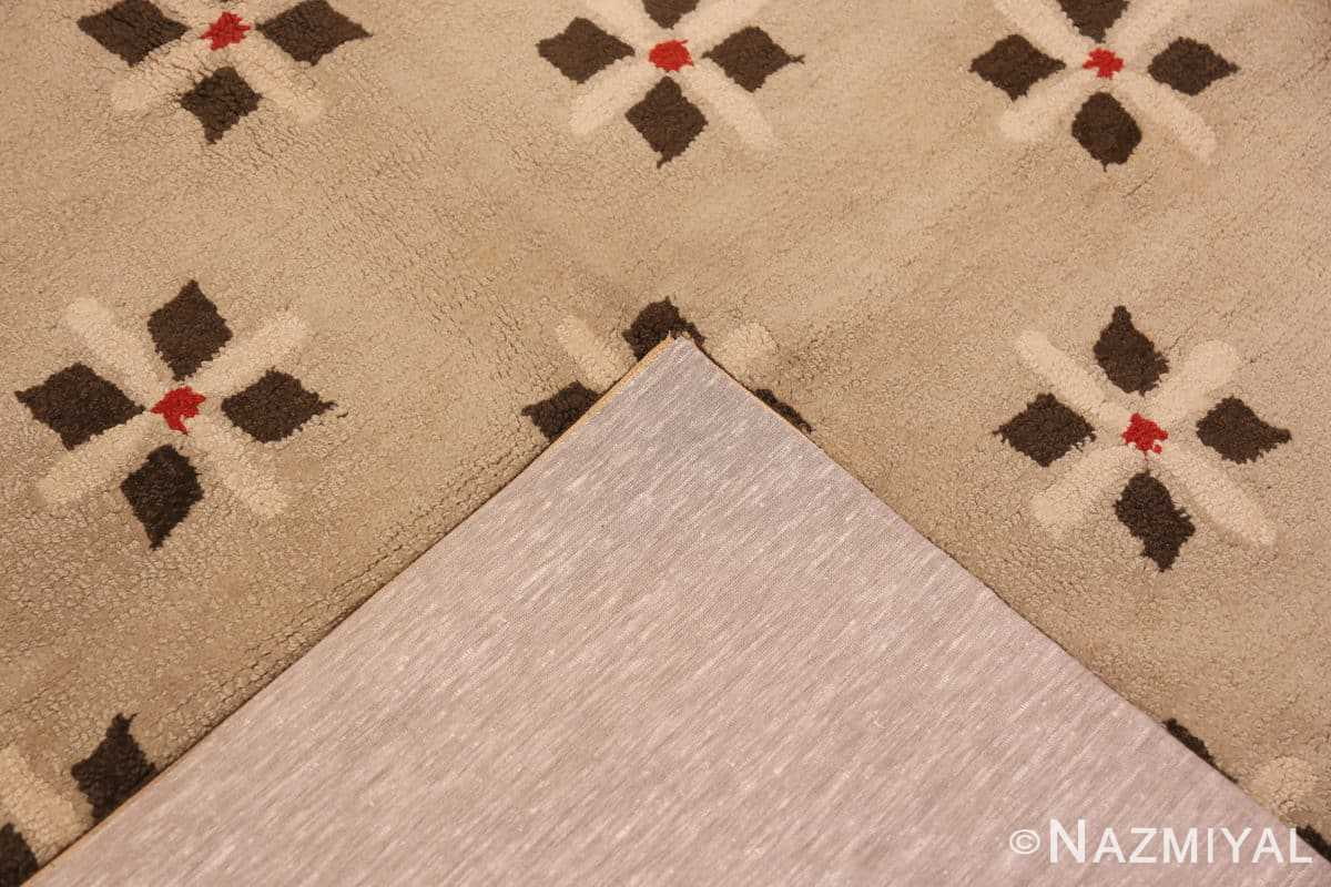 Weave Antique Deco American hooked rug 2714 by Nazmiyal