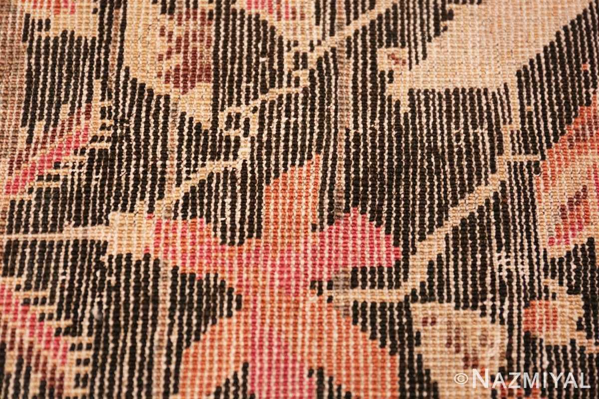 Weave detail Antique Caucasian Karabagh runner rug 50028 by Nazmiyal