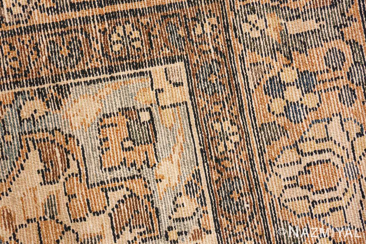 Weave detail Antique Malayer Persian carpet 50212 by Nazmiyal