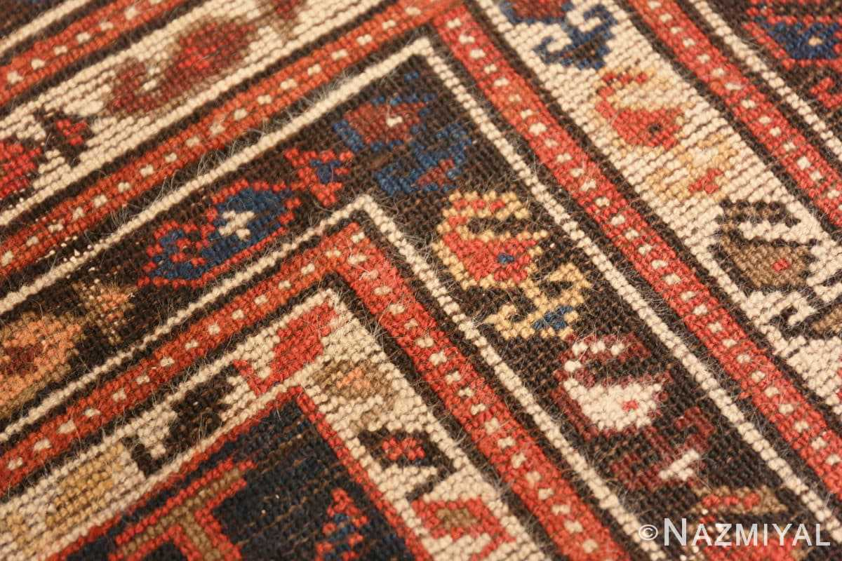 Weave detail Antique Malayer Persian runner rug 48464 by Nazmiyal