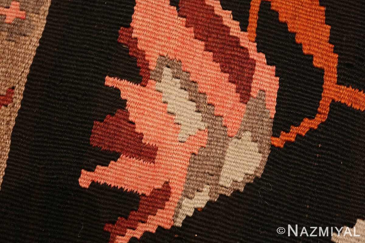 Weave detail Antique Romanian Besserabian kilim 50195 by Nazmiyal