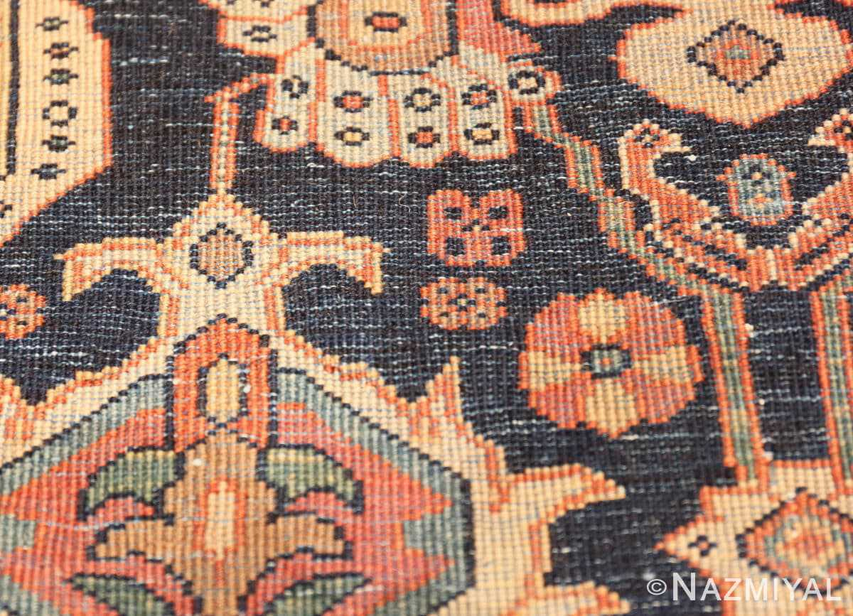 Weave detail Antique room sized Persian Farahan carpet 50149 by Nazmiyal