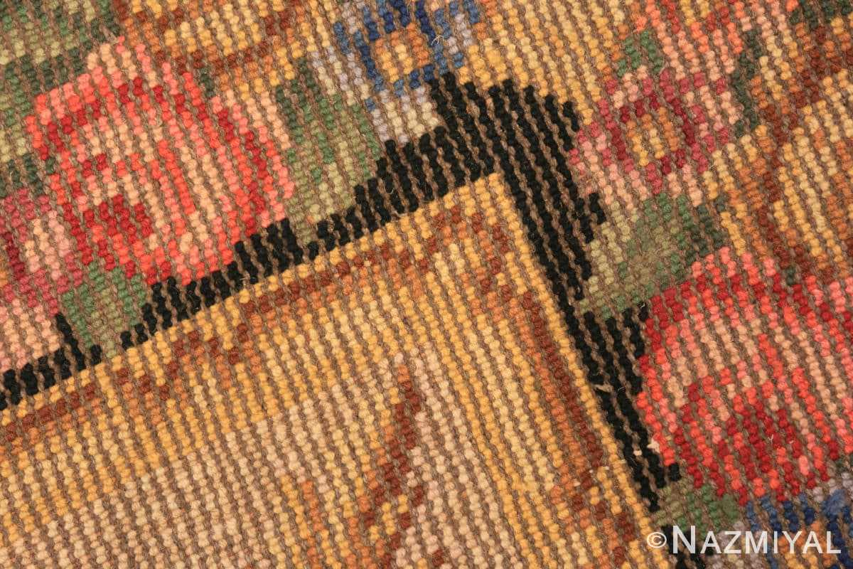 Weave detail Antique Spanish savonnerie rug 46823 by Nazmiyal Antique rugs