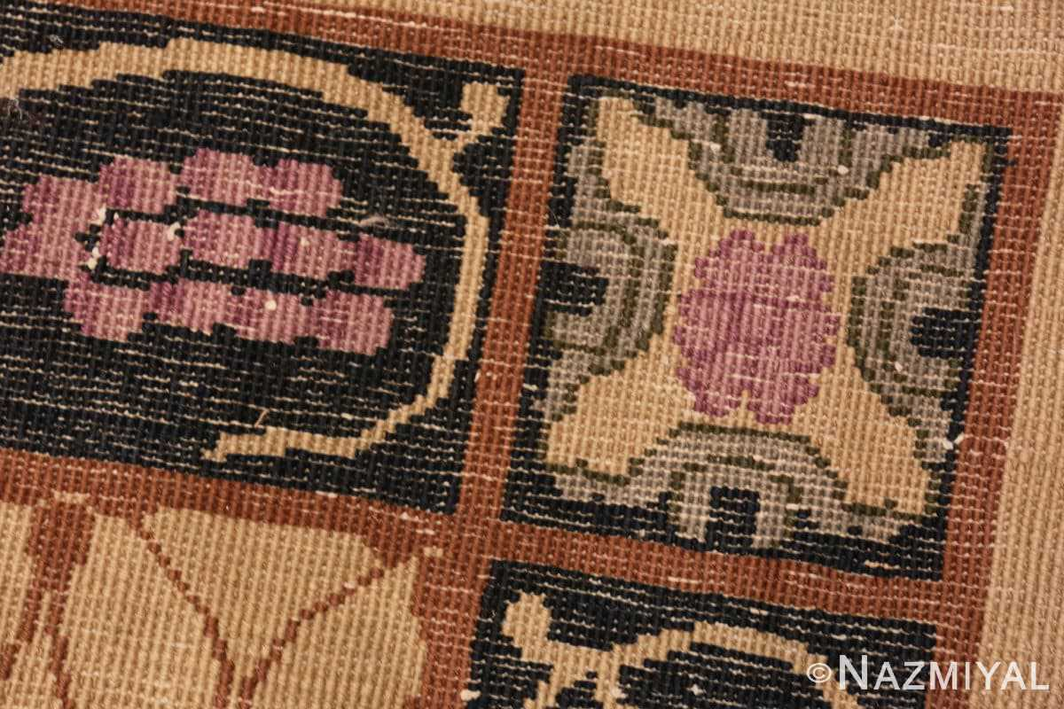 Weave detail Art Deco Chinese rug 50179 by Nazmiyal