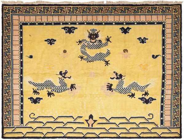 Antique Chinese Dragon Rug 46138 by Nazmiyal