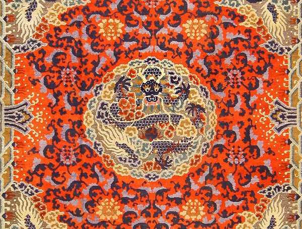 Antique Chinese Silk and Metallic Rug 48129 Nazmiyal