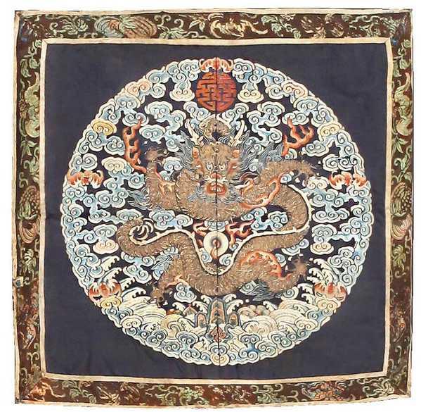 Imperial Chinese Rank Badge Dragon Symbolism 46114 Nazmiyal