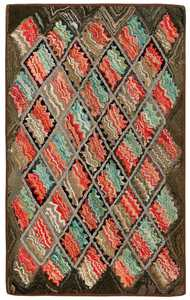 Antique American Hooked Rug 2560