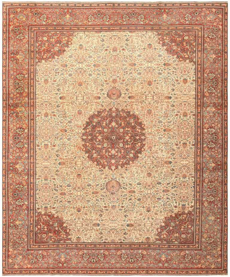 Antique Haji Jalili Persian Tabriz Carpet 50312