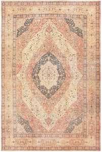 Antique Oversized Tabriz Persian Carpet 50262