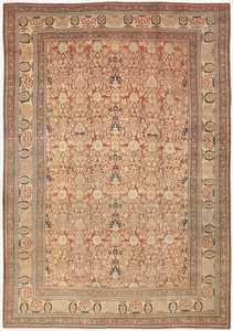 Antique Persian Haji Jalili Tabriz Carpet 46807 Nazmiyal